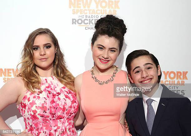 Juli Wesley Lilla Crawford and Joshua Colley attend the Opening Night performance of 'New York Spectacular' at the Radio City Music Hall on June 23...