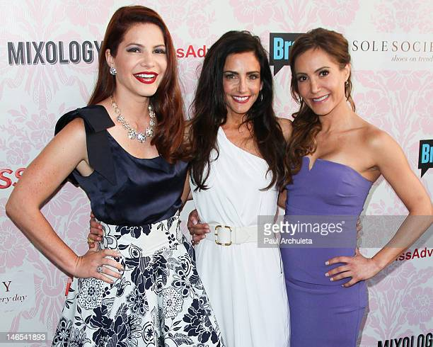 Julia Allison Emily Morse and Amy Laurent attends the viewing party for Bravo's new series Miss Advised at the Planet Dailies Mixology 101 on June 18...