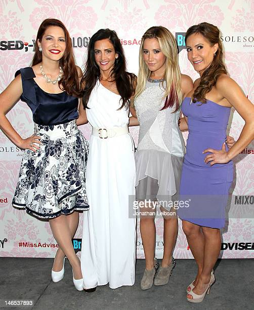 Julia Allison Emily Morse Ashley Tisdale and Amy Laurent attend the Bravo's New DocuSeries Miss Advised Viewing Party Arrivals at Planet Dailies...