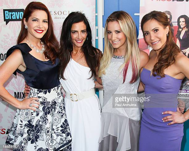 Julia Allison Emily Morse Ashley Tisdale and Amy Laurent attend the viewing party for Bravo's new series Miss Advised at the Planet Dailies Mixology...