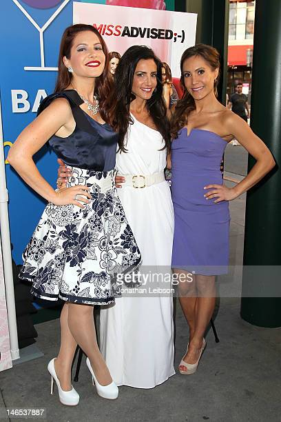 Julia AllisonEmily Morse and Amy Laurent attend the Bravo's New DocuSeries Miss Advised Viewing Party Arrivals at Planet Dailies Mixology 101 on June...