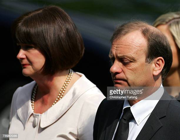 Julia and Bill Hawker the parents of murdered English teacher Lyndsey Ann Hawker arrive at Coventry Cathedral for Lyndsey's funeral service on 26...