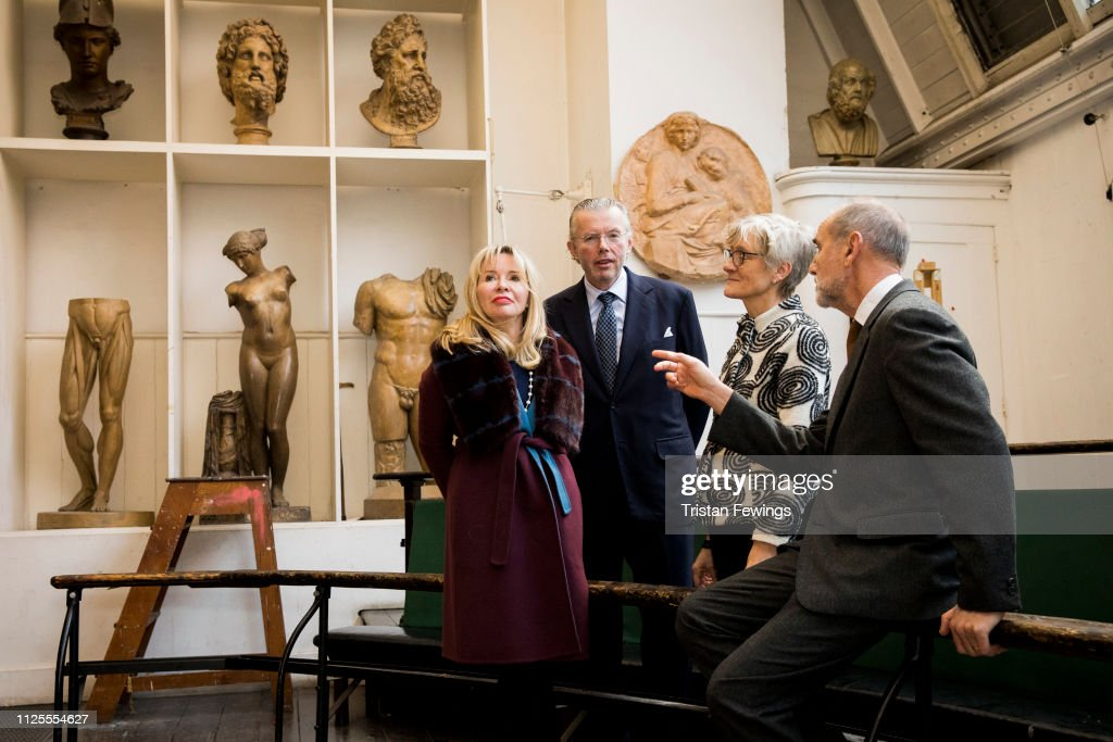 GBR: The Royal Academy Schools Receives Donation From Hans And Julia Rausing