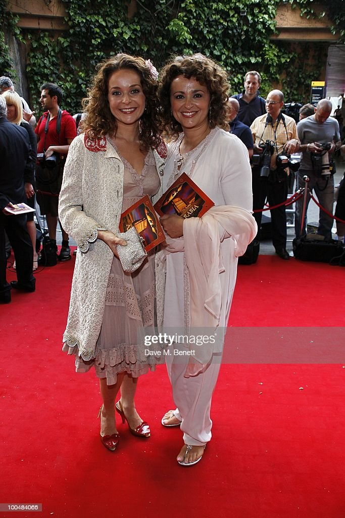 Julia and Nadia Sawallah attend the Royal Premiere of Arabia 3D at London IMAX on May 24, 2010 in London, England.