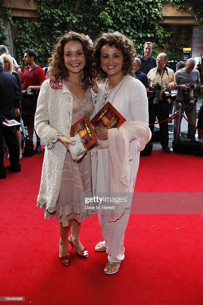 Julia and Nadia Sawallah attend the Royal Premiere of Arabia 3D at London IMAX on May 24, 2010 in London, England.