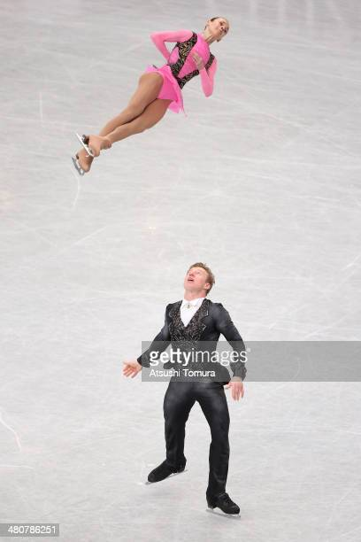 Julia Antipova and Nodari Maisuradze of Russia compete in the Pairs Free Program during ISU World Figure Skating Championships at Saitama Super Arena...
