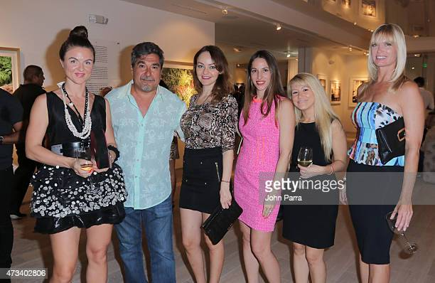 Julia Antipova Robert Curran Simona Paige Sherene Costanzo Jane Hoffman and Pamela Moore attend the Robert Curran Gallery on May 14 2015 in Miami...