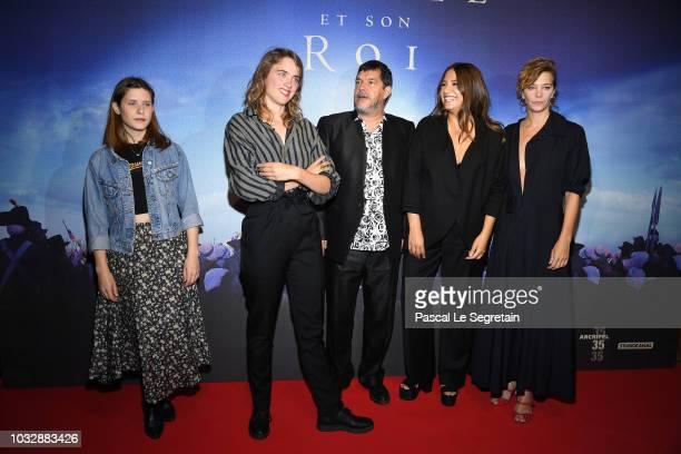 Julia Artamonov Adele Haenel Pierre SchoellerIzia Higelin and Celine Salette attend 'Un Peuple Et Son Roi' Paris Premiere at Gaumont Capucines on...