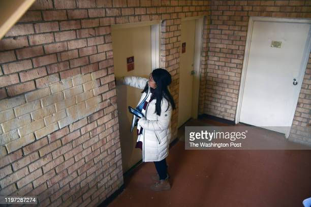 Julia Aviles Zavala sounds the afternoon interviewing Central Americans for the 2020 census in Hyattsville, Maryland on January 2020. CASA de...