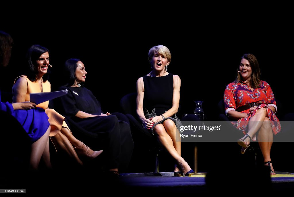 Senior Female Politicians Appear Together For 'Leading While Female' Panel Discussion : News Photo