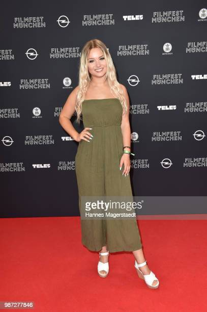 Julia Beautx attends the premiere of the movie 'Das schoenste Maedchen der Welt' of Munich Film Festival 2018 at Mathaeser Filmpalast on June 29,...