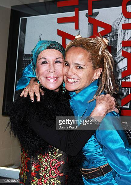Julia Belafonte and Shari Belafonte attend the opening night reception of Shari Belafonte's ITALY exhibit at Chair and The Maiden on October 7 2010...