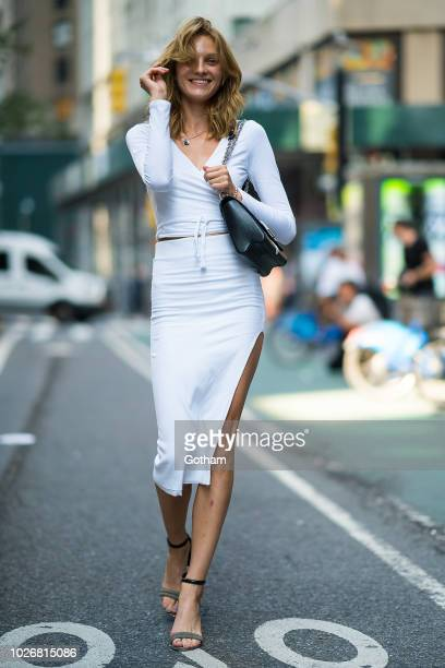 Julia Belyakova attends casting for the 2018 Victoria's Secret Fashion Show in Midtown on September 4 2018 in New York City