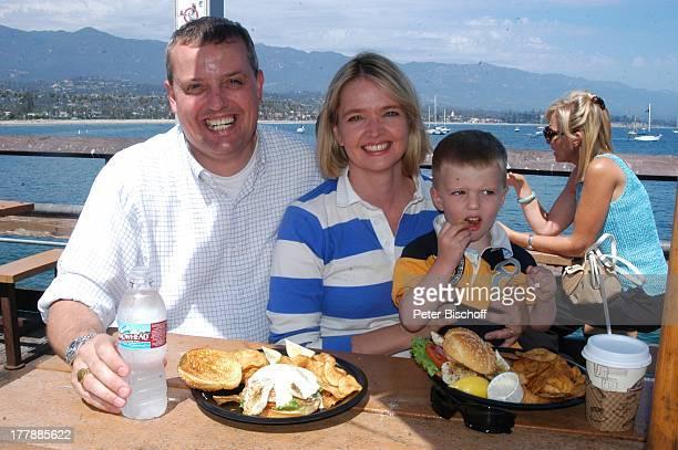 Julia Biedermann Ehemann Matthias Steffens Sohn Julius Touristin Ausflug nach Santa Barbara Stearns Wharf Steg an der Santa Barbara Waterfront...