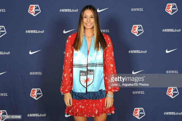 Julia Bingham during the 2020 NWSL College Draft at the Baltimore Convention Center on January 16 2020 in Baltimore Maryland