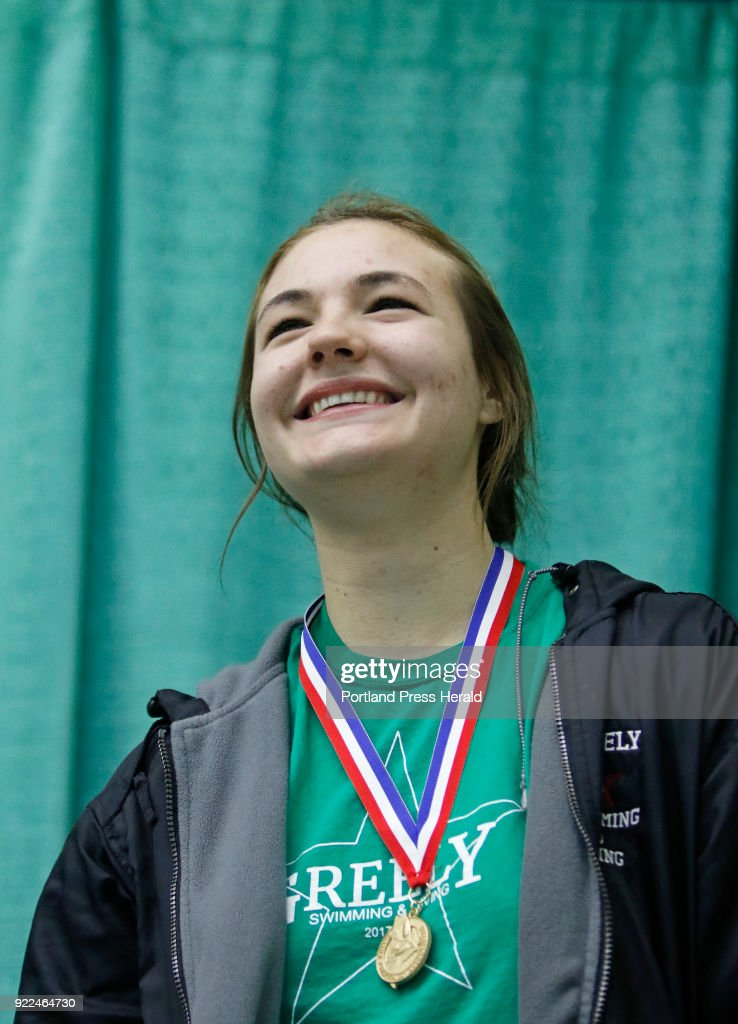 Class B girls swimming championships : News Photo