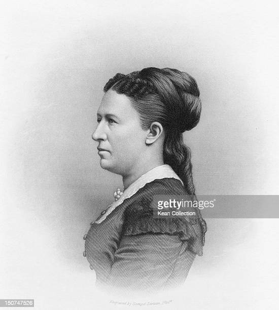 Julia Boggs Dent Grant the wife of US President Ulysses S Grant circa 1870 Engraved by Samuel Sartain