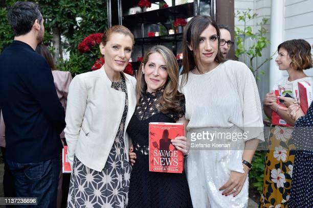 Julia Boorstin Jessica Yellin and Mandana Dayani attend Jessica Yellin LA Book Launch at Private Residence on April 14 2019 in Los Angeles California