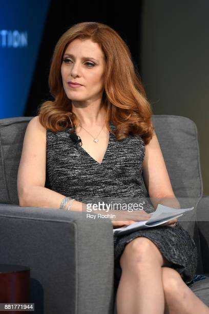 Julia Boorstin senior media and entertainment correspondent at CNBC speaks onstage at IGNITION Future of Media at Time Warner Center on November 29...