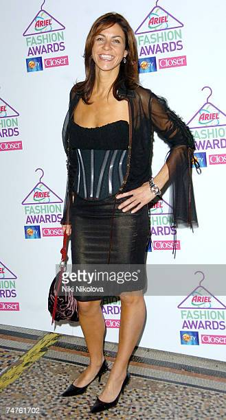 Julia Bradbury at the 1st Annual Ariel High Street Fashion Awards at Natural History Museum in london