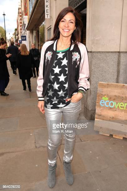 Julia Bradbury attending the Rubbish Cafe launch in Covent Garden on May 2 2018 in London England
