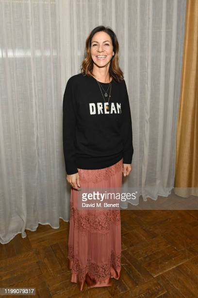 Julia Bradbury attends a photocall for Dark Waters at White City House on February 6 2020 Studios in London England
