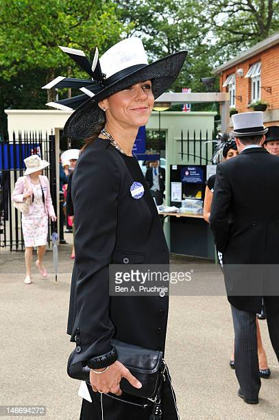 Julia Bradbury attends day four of Royal Ascot at Ascot Racecourse on June 22 2012 in Ascot England
