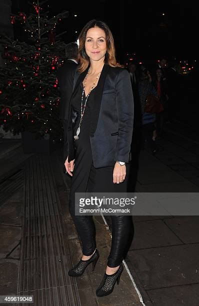 Julia Bradbury attends the Daily Mirror RSPCA animal hero awards at The Grosvenor House Hotel on November 26 2014 in London England