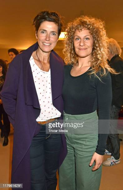 "Julia Bremermann and Alessija Lause attend the Rio Reiser premiere ""Mein Name Ist Mensch"" at Komoedie am Kurfuerstendamm at Schiller-Theater on..."
