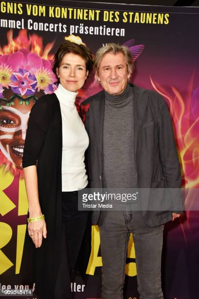Julia Bremermann and Michael Kind attend the Afrika Afrika 2018 Show Premiere on January 23 2018 in Berlin Germany