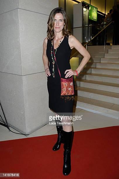 Julia Bremermann attends the '10th Deutscher Hoerfilmpreis 2012' at the Atrium Deutsche Bank on March 27 2012 in Berlin Germany