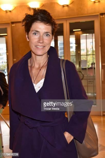 Julia Bremermann attends the Rio Reiser premiere Mein Name Ist Mensch at Komoedie am Kurfuerstendamm at SchillerTheater on October 6 2019 in Berlin...