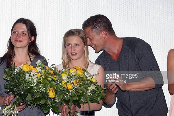 Julia Brendler Luna Schweiger Til Schweiger With Father at the Premiere Of Phantom Pain In the cinema In The Culture brewery in Berlin
