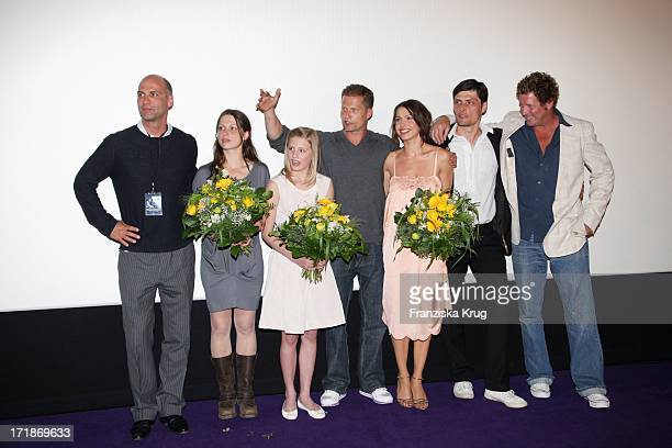 Julia Brendler Luna Schweiger With Father Til Schweiger Jana Pallaske and Stipe Erceg at the Premiere Of Phantom Pain In Cinema In The Culture...