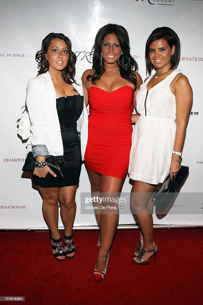 Julia ' Brooklyn' Balyas, Tracy DiMarco, and Anne Marie Quinn attends Antrel Rolle's welcoming celebration on June 3, 2010 in New York, New York.