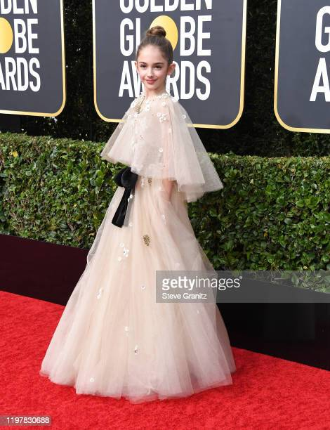 Julia Butters arrives at the 77th Annual Golden Globe Awards attends the 77th Annual Golden Globe Awards at The Beverly Hilton Hotel on January 05...