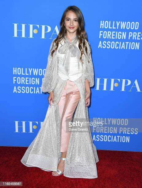 Julia Butters arrives at the Hollywood Foreign Press Association's Annual Grants Banquet at Regent Beverly Wilshire Hotel on July 31 2019 in Beverly...