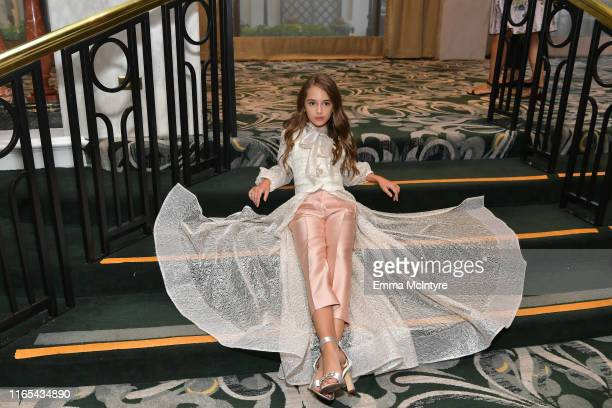 Julia Butters attends Hollywood Foreign Press Association's Annual Grants Banquet at Regent Beverly Wilshire Hotel on July 31 2019 in Beverly Hills...