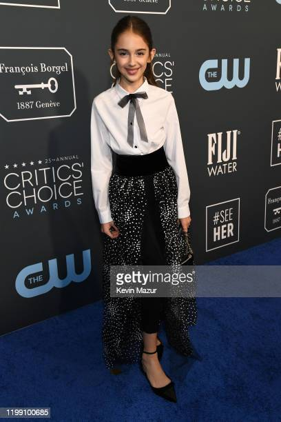 Julia Butters attends the 25th Annual Critics' Choice Awards at Barker Hangar on January 12 2020 in Santa Monica California