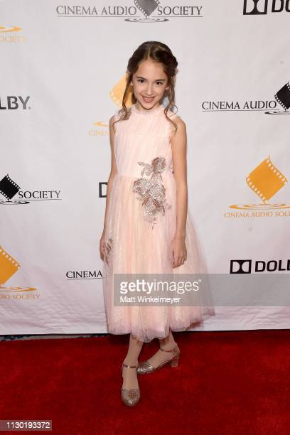 Julia Butters attends the 55th Annual Cinema Audio Society Awards at InterContinental Los Angeles Downtown on February 16 2019 in Los Angeles...