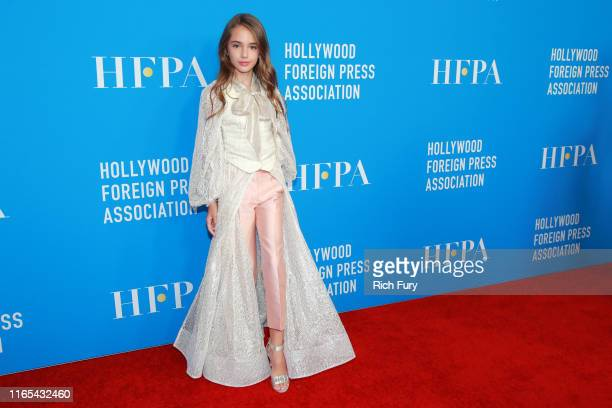 Julia Butters attends the Hollywood Foreign Press Association's Annual Grants Banquet at Regent Beverly Wilshire Hotel on July 31 2019 in Beverly...