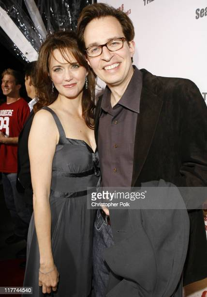 """Julia Campbell and Jay Karnes during """"The Shield"""" Season 6 Premiere and Season 5 DVD Launch Party - Red Carpet at Cabana Club in Hollywood,..."""
