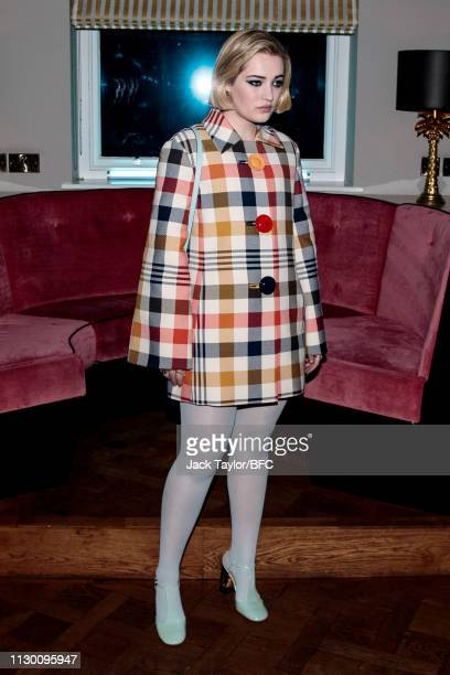 Julia Campbell Gillies attends the Mulberry Reflections party celebrating London Fashion Week February 2019 and Mulberry's SS collection at Laylow on...