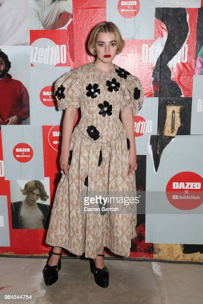 Julia CampbellGillies attends the Dazed and YouTube Dazed100 celebration at St Giles House on June 26 2018 in London England
