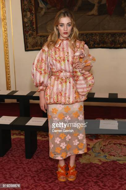 Julia CampbellGillies attends the Simone Rocha show during London Fashion Week February 2018 at Goldsmith's Hall on February 17 2018 in London England