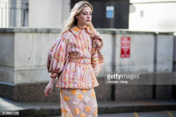 Julia CampbellGillies seen outside Simone Rocha during London Fashion Week February 2018 on February 17 2018 in London England