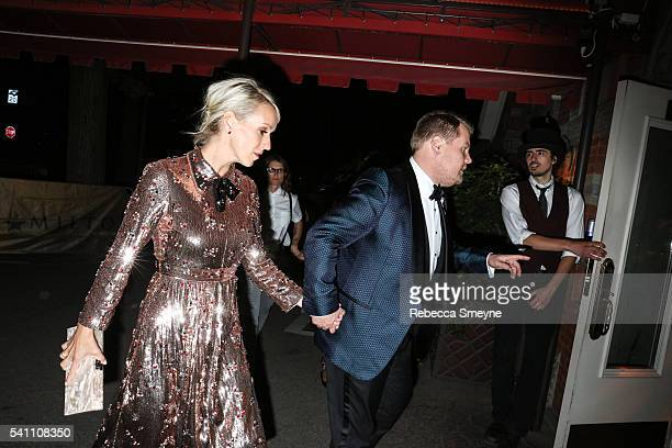 Julia Carey and James Corden arrive at the Hamilton afterparty for the Tony Awards at Tavern on the Green in New York NY on June 13 2016