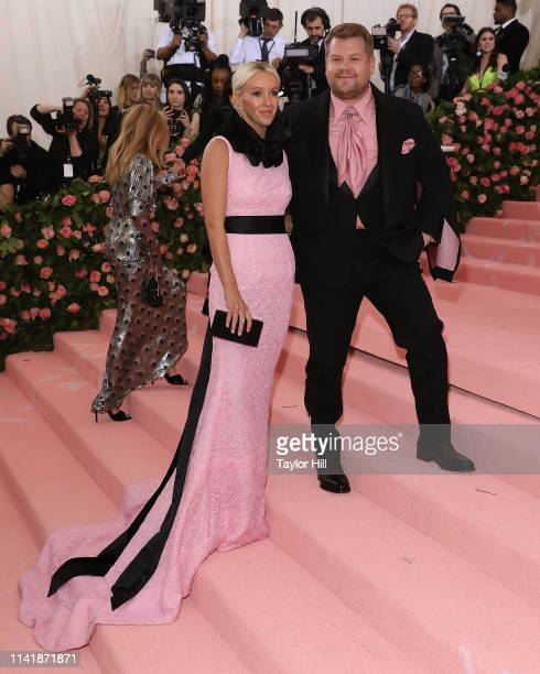 Julia Carey and James Corden attend the 2019 Met Gala celebrating Camp Notes on Fashion at The Metropolitan Museum of Art on May 6 2019 in New York...