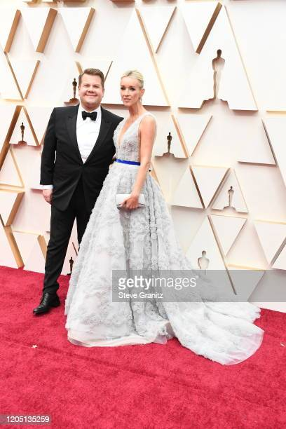 Julia Carey and James Corden attend the 92nd Annual Academy Awards at Hollywood and Highland on February 09, 2020 in Hollywood, California.