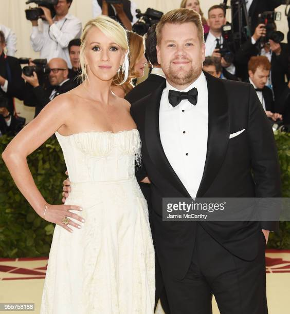Julia Carey and James Corden attend the Heavenly Bodies Fashion The Catholic Imagination Costume Institute Gala at The Metropolitan Museum of Art on...